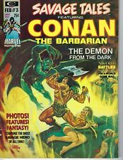 Savage Tales #3 February 1974 Good cond Conan The Barbarian