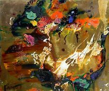 LISTED Matt Lamb (1932-2012) Interesting Abstract Oil Painting #1 NO RESERVE