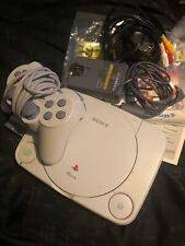 Sony Playstation PS One Video Game Console One Controller W power and AV cable