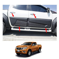 Side Molding Body Cladding Matte Black 4Pc For Nissan Np300 Navara D23 2015 - 17