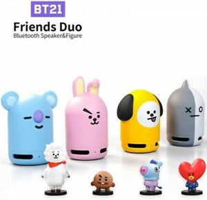 BTS Official Friends Duo BT21 Bluetooth Speaker with Figure Japan with Tracking