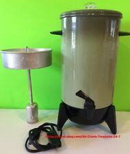 Electric Percolator 22 Cup Avocado Color Retro Vintage Collectible