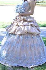 Beaded Quinceañera 4 Piece Dress,Formal Ball Gown Custom Made.