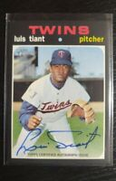 2020 Topps Heritage High Number Luis Tiant Real One Auto Autograph Twins