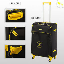 Single 24 inch 65L Medium Luggage Trolley Travel Bag 4 Wheel suitcase