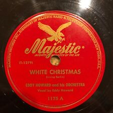 """Jazz """"WHITE CHRISTMAS"""" EDDY HOWARD and ORCHESTRA 78rpm [1947] on MAJESTIC 1175"""