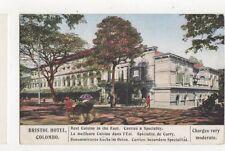 British Hotel Colombo Vintage Tarriff Card Ceylon 492a