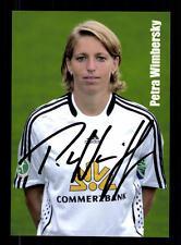 Petra Wimbersky AUTOGRAFO carta 1 FFC Frankfurt 2009-10 ORIGINALE + a 135745
