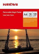 Hartwii 10Sheets A4 Self-adhesive Waterproof Sticky Photo Inkjet Paper Fabric AU