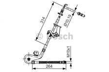 Bremsschlauch für Bremsanlage Vorderachse BOSCH 1 987 481 428