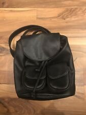 small leather black backpack purse - target