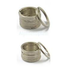 22pcs 32mm/25mm Strong Flat Split Ring Nickel Hoop keyring Metal Loop Key Rings