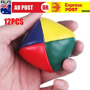 12x PU Juggling Balls Set Ball Bag for Magic Circus Beginner Kids Toy Gift Fun L