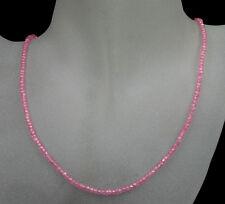 Zirkonia Kette Collier, Edelsteinkette, in rosa, facettiert, 42,60ct. NEU