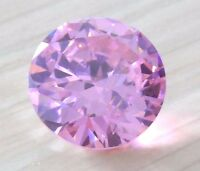 20mm Unheated 47.08ct AAAAA Pale Pink Sapphire Diamonds Cut Round VVS Loose Gems