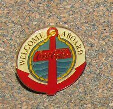 US B9 PIN COCA COLA WELCOME ABOARD SALING SAILOR BOAT NO2