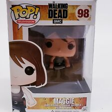 NEW Funko Pop! Maggie #98 The Walking Dead Maggie With Knife VAULTED! NOT MINT!*