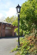 Usado Ex-Display 2.7 M Negro Victoriano Lámpara De Luz De Calle Jardín Post o regenerado