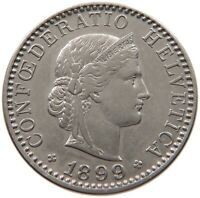SWITZERLAND 20 RAPPEN 1899 #t124 373