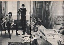 Coupure de presse Clipping 1966 Rolling Stones 15 chambres au George V  4pages