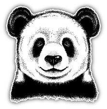 Panda Head Sketch Car Bumper Sticker Decal 5'' x 5''