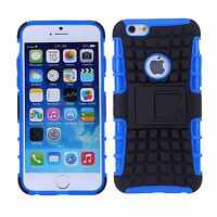 iPhone 6S PLUS Blue Hybrid Hard Case Heavy Duty Shockproof Rugged Cover Bumper