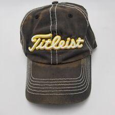 Iowa Hawkeyes Titleist Hat Cap Black Strapback Adult Plenty Of Wear BL3