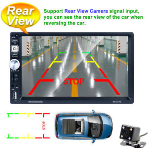 """7""""Android 8.1 4-Core GPS Car FM Radio w/Camera MP5 Player Bluetooth Touch Screen"""