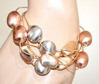 PULSERA mujer dorada colgantes piedras plata oro rosa brazalete pulseira GP5