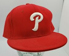 Philadelphia phillies Hat Red 7 3/4 Fitted By Hatco Premium