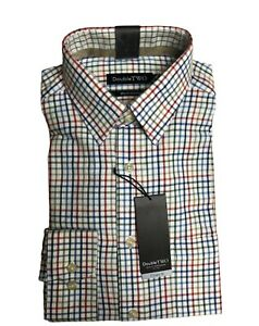 100% BRUSHED COTTON RUST CHECK WARM HANDLE COUNTRY HUNTING SHIRT BY DOUBLE TWO