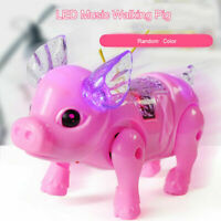 LED Light Glowing Pig Toy Musical Walking Electronic Gift Pet For Children J5Z2