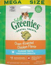 Feline Greenies Dental Treat Oven Roasted Chicken 4.6oz    Free shipping