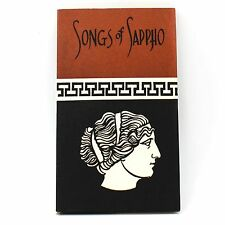 Collectible 1966 The songs of Sappho In English translation by many poets Book