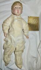 1985 Franklin Mint Heirloom Porcelain Doll Fisk Tire Boy 12� Baby Orig Clothing
