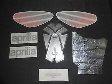 INCOMPLETE GENUINE APRILIA RSV 1000 2004 LEAD GREY TANK DECAL SET AP8166117