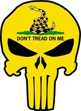 Punisher With Don't tread on Me Gadsden Flag Stickers Truck car window Southern