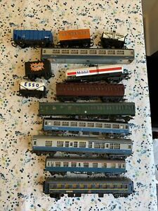 Hornby Lima Jouef Job Lot 13 Wagons & Coaches Usable & Spares & Repairs