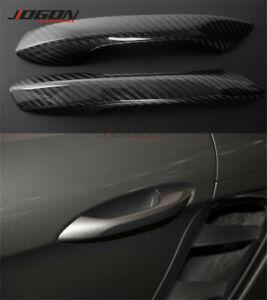 For Porsche 718 Boxster Cayman 2016-2020 Dry Carbon Fiber Door Handle Cover Trim