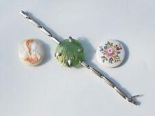 BEAU BRACELET ANCIEN 1900 en ARGENT avec 3 ELEMENTS INTERCHANGEABLES !