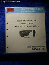 Sony Operation Manual CCD TR400 /TR750 /TR650E /TR750E (#3690)