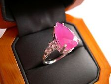 A Certified, Unheated 8.43ct Natural Ruby Ring