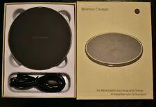 Qi Black Wireless Fast Charger Charging Dock Pad For I Phone and Android