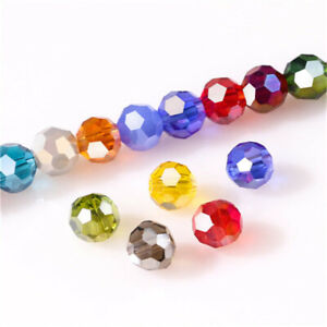 Diy 100Pc4Mm Round Crystal Glass Beads Colorful Spacer Bead For Bracelet Jewelry