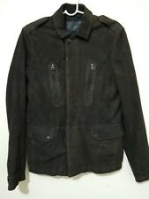 ALLSAINTS MEN'S SARGENT LEATHER BLAZER JACKET XS SIZE