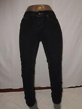 Rocawear Women's Stitch Pockets Skinny Black Jeans Size 7