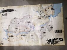 RED DEAD REDEMPTION Official Double Sided Poster Map only original
