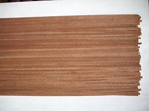 50 Holzleisten Mahagoni  1000 x 5 x 0,6 mm