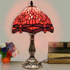 Tiffany Style Glass Side Light Table Lamp Lamp single Bulb glass shade UK Plug