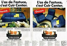 Publicité Advertising 1986 (2 pages) Fauteuil Canapé Cuir Center